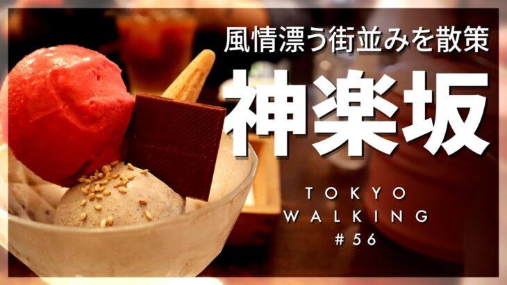 【東京vlog#56】神楽坂でグルメ巡り。行列グルメとジェラート